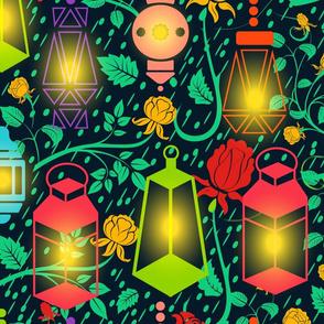 Festive Lantern Paradise Large Scale