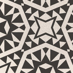 Moroccan Tiles - Charcoal + White