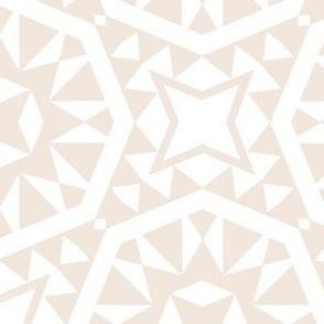 Moroccan Tiles - Cream + White