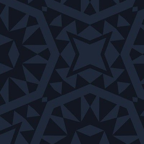 Moroccan Tiles - Navy