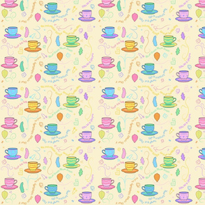 Teacups yellow