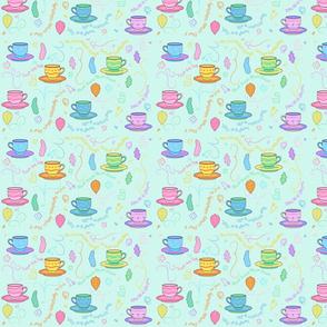 Teacups teal