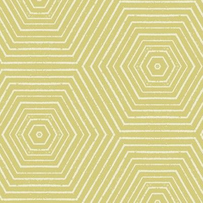 Concentric Hexagons M+M Olive by Friztin