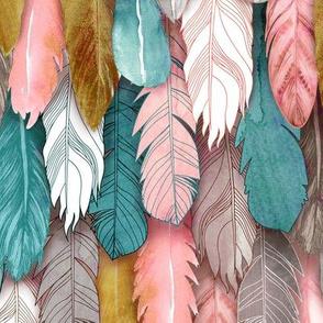 Flight of Feathers Jewel Tones