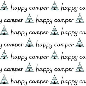 happy-camper with teepees and black lettering