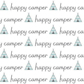 happy-camper with teepees and charcoal lettering