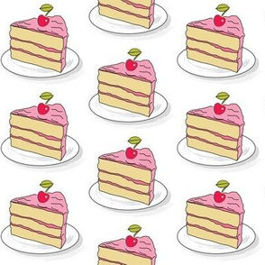 cake slice with a cherry on top