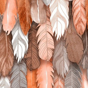 Owl Feathers Sienna