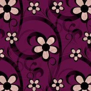 Fractal Daisy Swirls - Geranium Edition