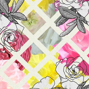 Flower Show Trellis with Camellias