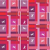 Pink Plaid Horses