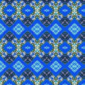 Double Diamond & Cool Blue Stripes