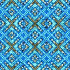 Cool Blue Diamond Facets