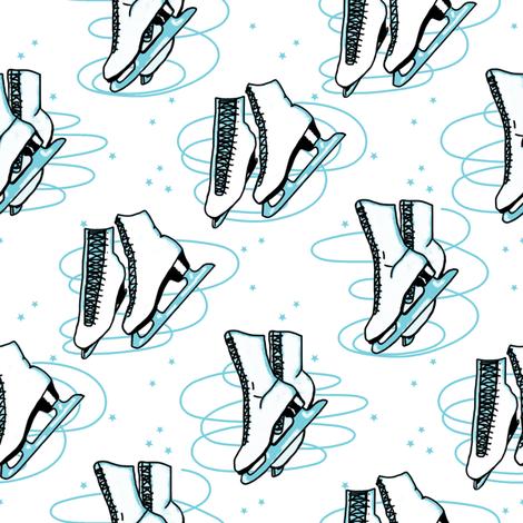 Blue Ice Skates  fabric by louisehenderson on Spoonflower - custom fabric