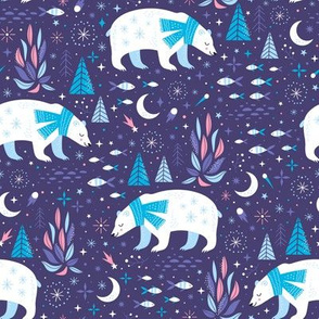 ice bear - purple