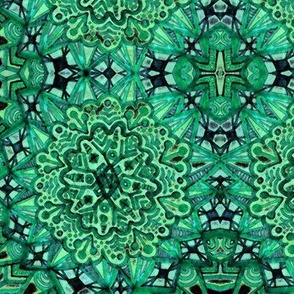 Green Mirrored Mandala