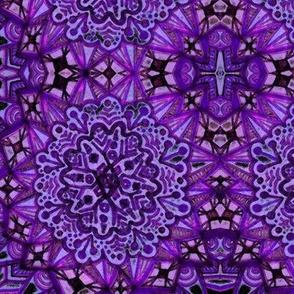 Purple Mirrored Mandala