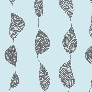 geometric leaf on line