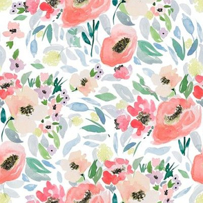 """8"""" Blooming Spring Garden in Peach and Blue"""
