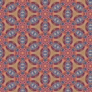 african flower motif original - large print