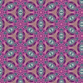 african flower motif purple - large print