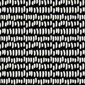 Ditzy Dash // Ecru on Black