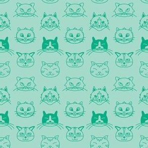 Teal Cats
