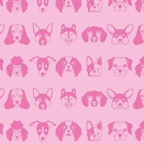 pink dog faces