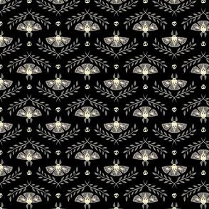 Spooky Moths (Black & Small)