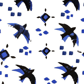 Blue swallows