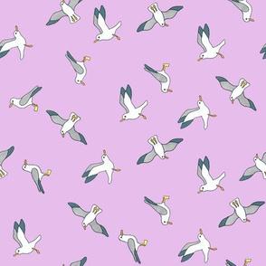 Pink Seagulls
