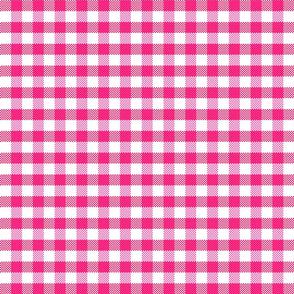 pink pixel gingham