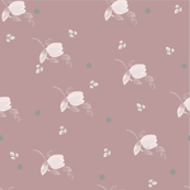 DAVK designs-Watercolor tulips  and grey dots Pattern on dusty pink background