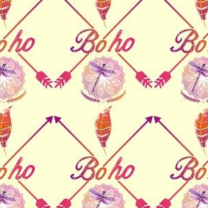 Bohemian Arrows N Feathers Pattern