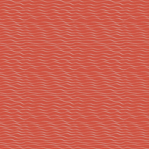 white waves on red background