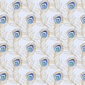 peacock - light blue