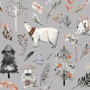 Winter Woodland Wonderland // Gray Nickel