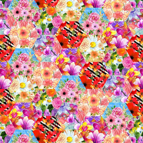 Floral Clash Hexagons