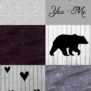 You and me purple glitter