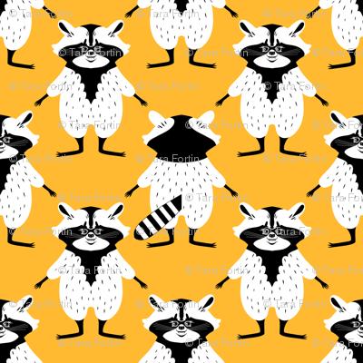 City Raccoon - Light Orange