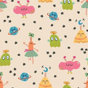 Colorful Happy Monsters
