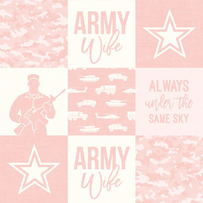 Army Wife - Patchwork fabric (always under the same sky) - Soldier Military - light pink - LAD19