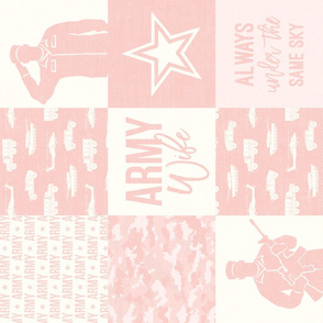 Army Wife - Patchwork fabric (always under the same sky) - Soldier Military - light pink digital camo - LAD19