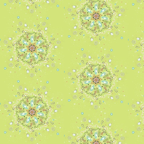 burst - chartreuse