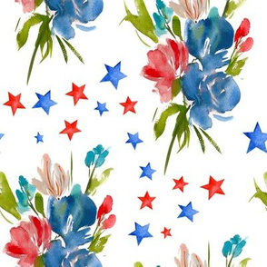 4th of July Florals // White