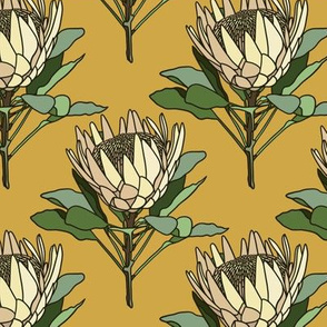 Proteas on mustard- small