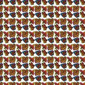 Geometric Flower Repeat Pattern