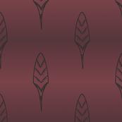 Folk feather wine gradient
