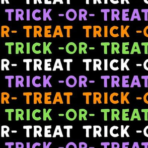 trick or treat - multi green and purple - halloween - LAD19