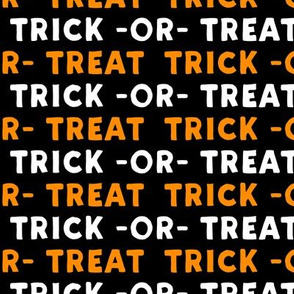 trick or treat - white and orange - halloween - LAD19